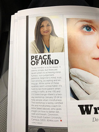 Demystifying Mindfulness - Jacksonville Magazine article