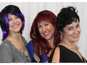 Three beautiful ladies with a new doo
